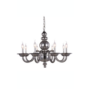 Champlain Silver Shade Eight-Light Chandelier