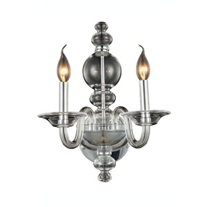 Champlain Chrome Two-Light Wall Sconce