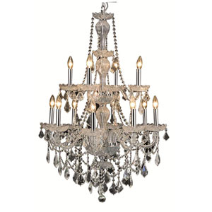 Giselle Royal Cut Crystal Chrome 12 Light 41-in Chandelier