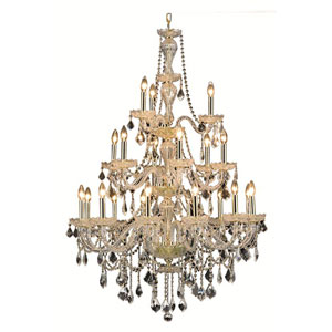 Giselle Royal Cut Crystal Gold 21 Light 53-in Chandelier