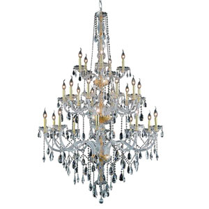 Verona Gold Twenty-Five Light Chandelier with Clear Royal Cut Crystals