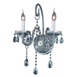 Verona Golden Shadow Two-Light Sconce with Golden Shadow/Champagne Royal Cut Crystals