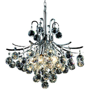 Toureg Chrome Six-Light 16-Inch Pendant with Royal Cut Clear Crystal
