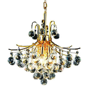 Toureg Gold Six-Light 16-Inch Pendant with Royal Cut Clear Crystal