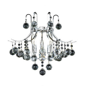 Toureg Chrome Three-Light 16-Inch Wall Sconce with Royal Cut Clear Crystal