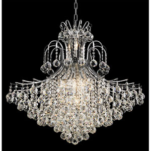 Toureg Chrome Fifteen-Light 31-Inch Chandelier with Royal Cut Clear Crystal