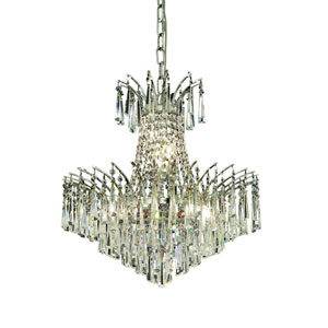 Victoria Chrome Eight-Light Chandelier with Clear Royal Cut Crystals