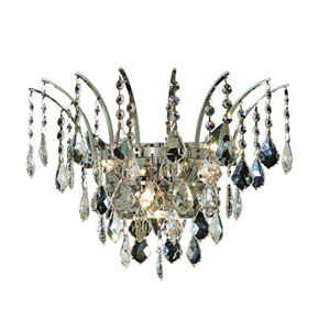 Victoria Chrome Three-Light Sconce with Clear Royal Cut Crystals