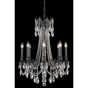 Rosalia Dark Bronze Eight-Light Chandelier with Royal Cut Crystal