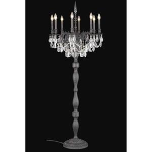 Rosalia Dark Bronze Eight-Light Floor Lamp with Clear Royal Cut Crystal