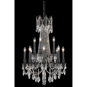 Rosalia Dark Bronze 12-Light Chandelier with Royal Cut Crystal