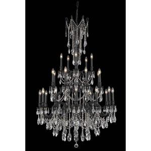 Rosalia Dark Bronze 25-Light Chandelier with Royal Cut Crystal