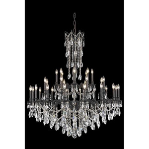 Rosalia Dark Bronze 32-Light Chandelier with Clear Royal Cut Crystal