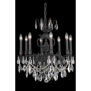 Marseille Dark Bronze Eight-Light Chandelier with Royal Cut Crystal