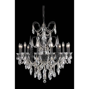 Athena Dark Bronze 12-Light Chandelier with Royal Cut Crystal