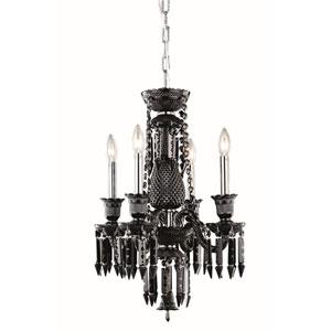 Majestic Elegant Cut Crystal Black Four Light 24-in Pendant
