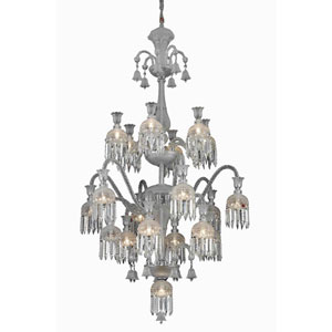 Majestic Chrome 13-Light Chandelier with Elegant Cut Crystal
