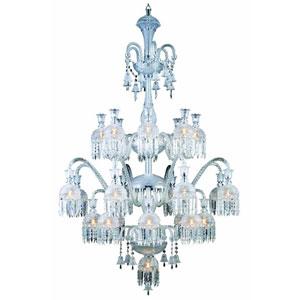 Majestic Elegant Cut Crystal Chrome 19 Light 57-in Chandelier
