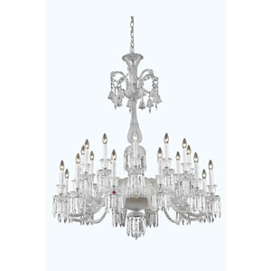 Majestic Chrome 24-Light Chandelier with Elegant Cut Crystal
