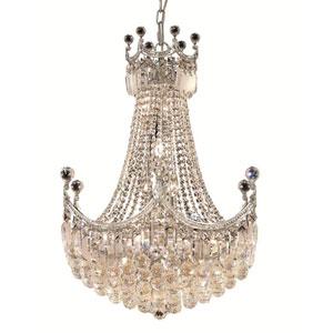 Corona Chrome Eighteen-Light 24-Inch Chandelier with Royal Cut Clear Crystal