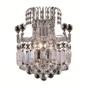 Corona Chrome Two-Light 12-Inch Wall Sconce with Royal Cut Clear Crystal