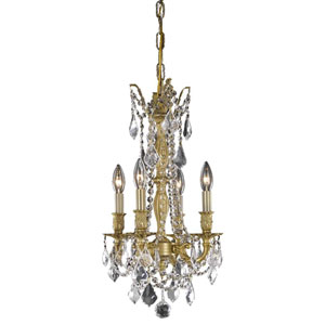 Rosalia French Gold Four-Light Chandelier with Royal Cut Crystal