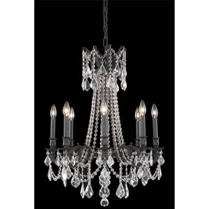 Rosalia Dark Bronze Eight-Light Chandelier with Clear Royal Cut Crystals