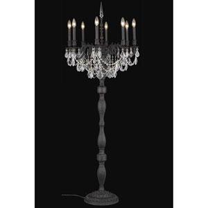Rosalia Dark Bronze Eight-Light Floor Lamp with Royal Cut Crystal