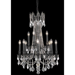 Rosalia Dark Bronze Twelve-Light Chandelier with Clear Royal Cut Crystals