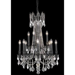 Rosalia Dark Bronze Twelve-Light Chandelier with Clear Royal Cut Crystals