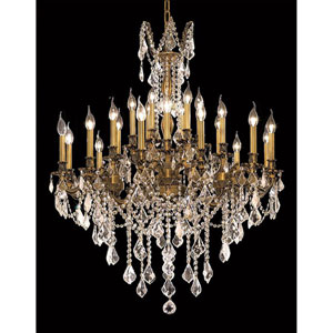 Rosalia French Gold 24-Light Chandelier with Royal Cut Crystal
