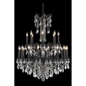 Rosalia Dark Bronze 24-Light Chandelier with Royal Cut Crystal