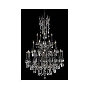 Rosalia Dark Bronze Twenty-Five Light Chandelier with Clear Royal Cut Crystals