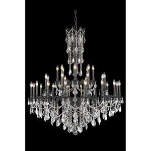 Rosalia Dark Bronze 32-Light Chandelier with Royal Cut Crystal