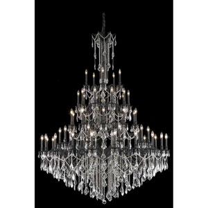 Rosalia Dark Bronze 55-Light Chandelier with Royal Cut Crystal