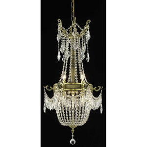 Esperanza Antique Bronze Six-Light Chandelier with Clear Royal Cut Crystals