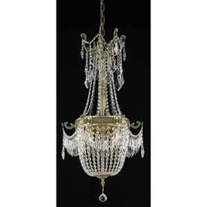 Esperanza French Gold Six-Light Chandelier with Clear Royal Cut Crystals