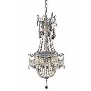 Esperanza Pewter Eight-Light Chandelier with Royal Cut Crystal