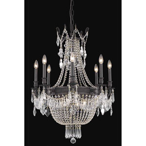 Esperanza Dark Bronze 12-Light Chandelier with Royal Cut Crystal