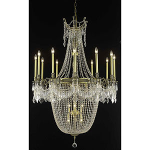 Esperanza Antique Bronze 22-Light Chandelier with Swarovski Strass/Elements Crystal
