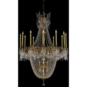 Esperanza French Gold Twenty-Two Light Chandelier with Clear Royal Cut Crystals