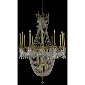 Esperanza French Gold 22-Light Chandelier with Swarovski Strass/Elements Crystal