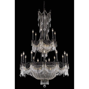 Esperanza Dark Bronze 27-Light Chandelier with Royal Cut Crystal