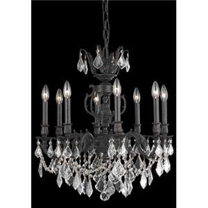 Marseille Dark Bronze Eight-Light Chandelier with Golden Shadow/Champagne Royal Cut Crystals