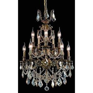 Marseille Dark Bronze Ten-Light Chandelier with Golden Shadow/Champagne Royal Cut Crystals