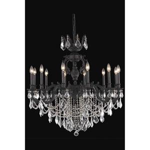 Marseille Dark Bronze 12-Light Chandelier with Royal Cut Crystal