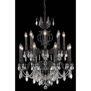 Marseille Dark Bronze Sixteen-Light Chandelier with Clear Royal Cut Crystals