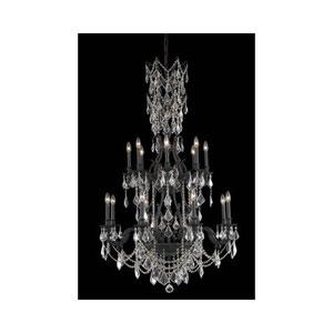 Monarch Dark Bronze Sixteen-Light Chandelier with Golden Shadow/Champagne Royal Cut Crystals