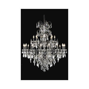 Athena Dark Bronze Twenty-Four Light Chandelier with Clear Royal Cut Crystals
