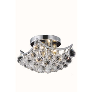 Corona Chrome Four-Light Semi-Flush Mount with Clear Royal Cut Crystals